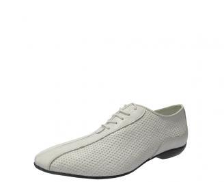 Мъжки официални  обувки обувки бели естествена кожа TUND-11243
