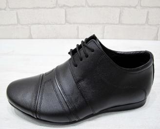 Мъжки официални обувки естествена кожа черни 2