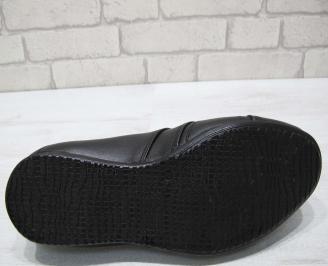 Мъжки официални обувки естествена кожа черни 4