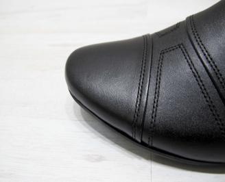 Мъжки официални обувки естествена кожа черни 5