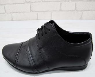 Мъжки официални обувки естествена кожа черни 6
