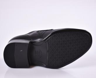 Мъжки официални обувки черни естествена кожа ALAL-23018