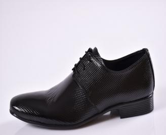 Мъжки официални обувки естествена кожа черни MFOY-23391