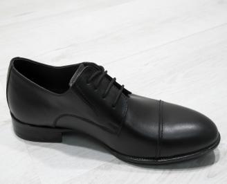 Мъжки официални обувки естествена кожа черни MYPB-23467
