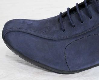 Мъжки официални обувки тъмно сини набук XOXI-24186
