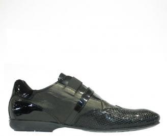 Мъжки официални обувки от естествена кожа/лак KESC-10142