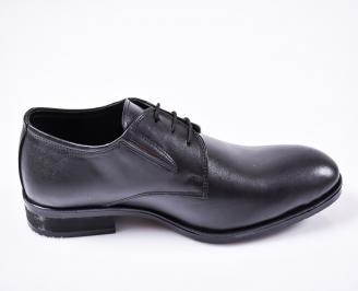 Мъжки официални обувки естествена кожа черни OUXN-25196