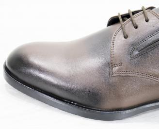 Мъжки официални обувки естествена кожа кафяви VKSQ-25254