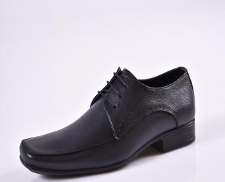 Мъжки официални обувки естествена кожа сини FMPJ-26959