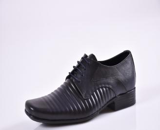 Мъжки официални обувки естествена кожа сини XEEX-26960