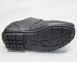 Мъжки сандали черни естествена кожа ECWX-23855