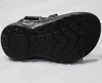 Мъжки сандали черни естествена кожа PYDX-24152