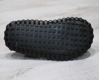 Мъжки сандали черни естествена кожа LSLL-24663