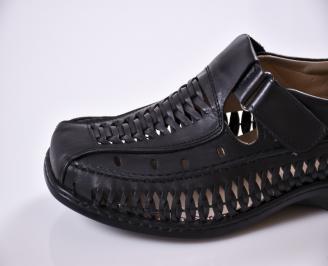 0e98a7b2825 Мъжки сандали черни естествена кожа IHCG-27679 - Чехли и сандали