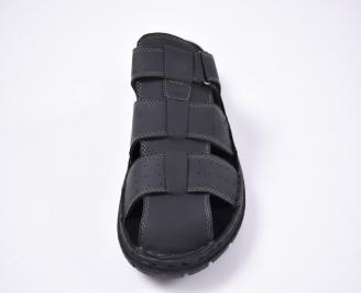 Мъжки сандали еко набук черни UCPB-1012494
