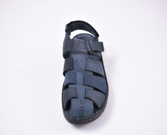 Мъжки сандали еко набук  сини YMGY-1012500
