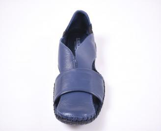 Мъжки сандали естествена кожа сини HOHS-1012656