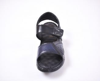 Мъжки сандали естествена кожа черни FXMR-1012659