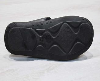 Мъжки сандали естествена кожа черни CQDQ-24681