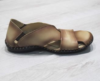 Мъжки сандали естествена бежови 3