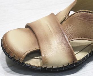 Мъжки сандали естествена бежови 5