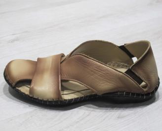 Мъжки сандали естествена бежови UKPU-24832