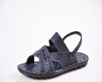 Мъжки сандали естествена кожа сини JYSV-27429