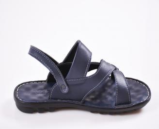 c777cce3d30 Мъжки сандали естествена кожа сини JYSV-27429 - Чехли и сандали