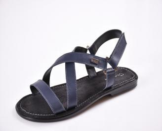 Мъжки сандали естествена кожа сини ZTMG-27616