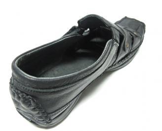 Мъжки сандали естествена кожа черни ENKK-13635