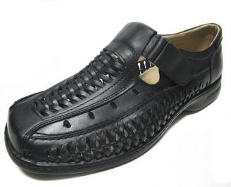 Мъжки сандали естествена кожа чени PAFU-14538