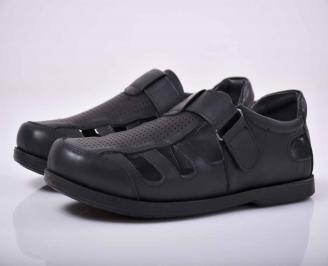 Мъжки сандали-Гигант естествена кожа черни IYXN-1015622