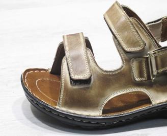 Мъжки сандали -Гигант естествена кожа кафяви HXQV-24558