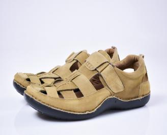Мъжки сандали набук бежови TYXE-1012550