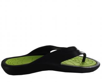 Мъжки силиконови джапанки черно/зелено UGFT-19326