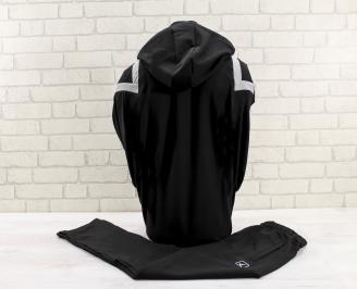 Мъжки спортен екип  черен QEEL-26796