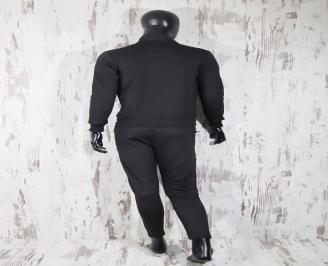 Мъжки спортен екип памук черен LXBB-23273