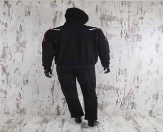 Мъжки спортен екип памук черен SASP-24567