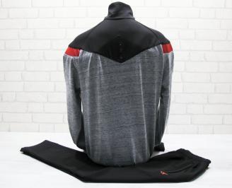 Мъжки спортен екип памук черно/сиво VNKS-25028