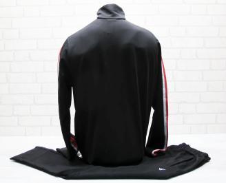 Мъжки спортен екип памук черно/червено NPKX-25032