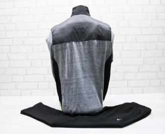 Мъжки спортен екип памук черно/сиво MKXV-25033
