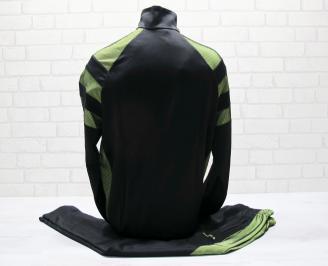 Мъжки спортен екип памук черно/зелено TATT-25035
