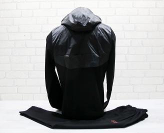 Мъжки спортен екип памук черен THPJ-25037