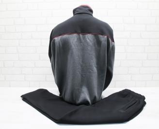 Мъжки спортен екип памук черен-Гигант TGJI-25668