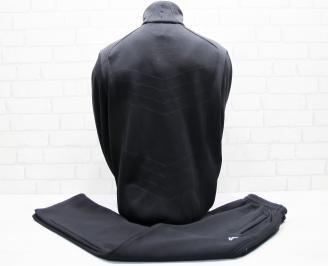 Мъжки спортен екип памук черен TSPR-25669