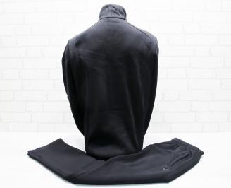Мъжки спортен екип памук черен BBBA-25670