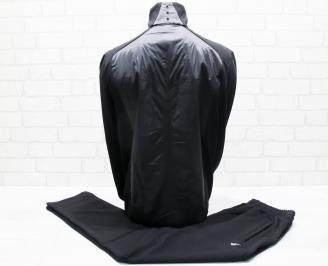 Мъжки спортен екип памук черен ELSG-25671