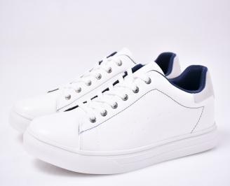 Мъжки спортни обувки бели ZHDX-1012696