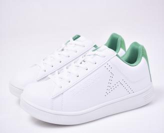 Мъжки спортни обувки бели VCYB-1012702