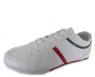 Мъжки спортни обувки бели еко кожа YAVP-19222